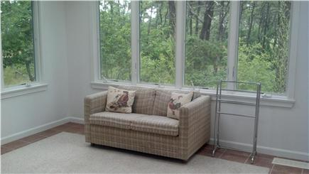 Wellfleet Cape Cod vacation rental - Lower level Sun Room off family rm w/walk-out access to back yard