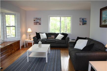 Falmouth Cape Cod vacation rental - Living room with bay window seat