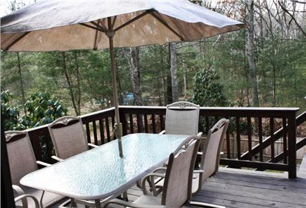 Falmouth Cape Cod vacation rental - Al fresco dining is just a step outside the kitchen door