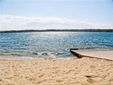 Brewster Cape Cod vacation rental - Private beach on  pond include use of kayak & beach accessories