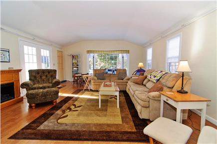 Brewster Cape Cod vacation rental - Spacious family room  w/ 52''  HDTV, cable and DVD
