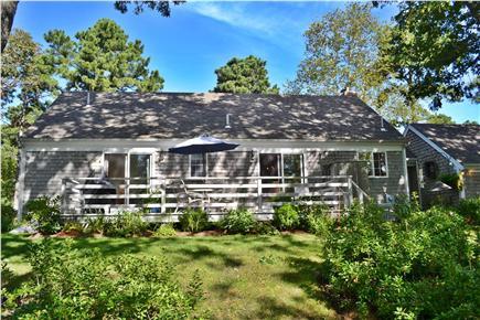 Brewster Cape Cod vacation rental - Backyard deck & outdoor shower