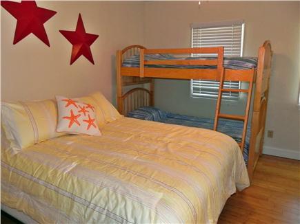 West Dennis Cape Cod vacation rental - Second floor bedroom - 1 queen and twin bunk beds