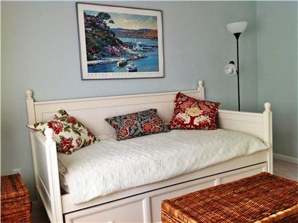 Mashpee Cape Cod vacation rental - Bedroom with daybed and trundle off kitchen
