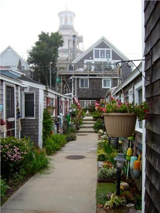 Provincetown Cape Cod vacation rental - View of cottages from the waterfront deck.