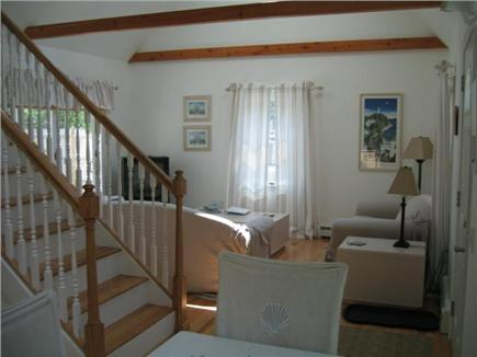 Eastham Cape Cod vacation rental - Airy and open living room with skylight and ceiling fan
