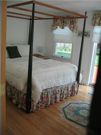 Eastham Cape Cod vacation rental - Peaceful first floor queen bed with slider to patio