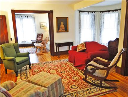 East Dennis Cape Cod vacation rental - Classic living room with 10 foot ceilings and beautiful hardwood