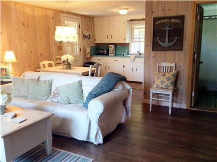 Dennis, Beach Street @ Mayflower beach Cape Cod vacation rental - Living room ~ kitchen view