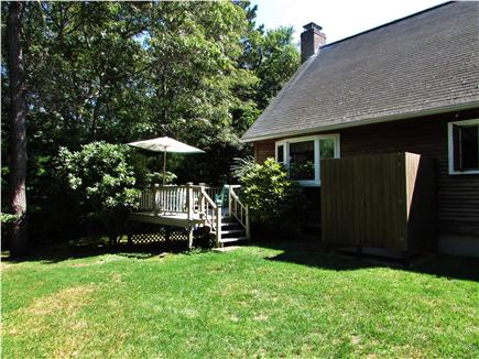 North Falmouth Cape Cod vacation rental - Back yard