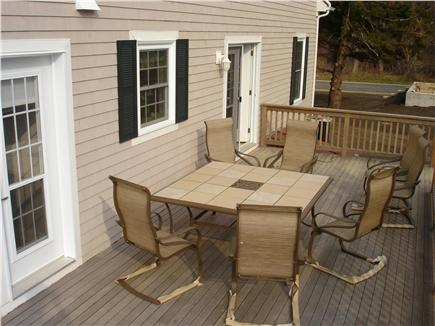 Brewster Cape Cod vacation rental - Rear deck with Lower road in distance.
