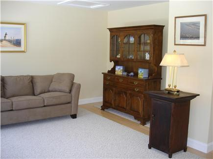 Brewster Cape Cod vacation rental - Library with queen sofa and TV, books videos and games.