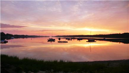 Orleans Town Cove Cape Cod vacation rental - Dawn over the Cove seen from your window!