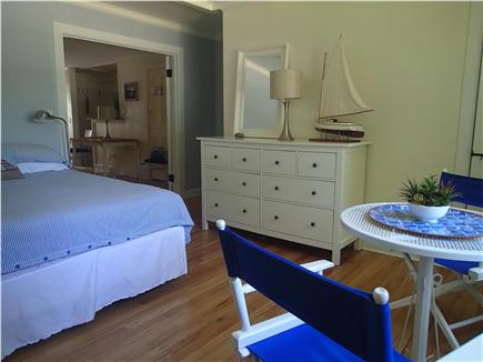 Orleans Town Cove Cape Cod vacation rental - Bedroom with table for two overlooking Orleans town cove