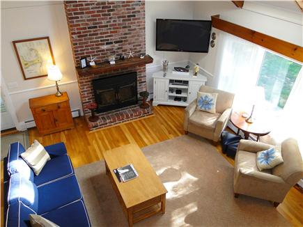 Brewster Cape Cod vacation rental - Sunny Great Room with vaulted ceilings, hardwood floors