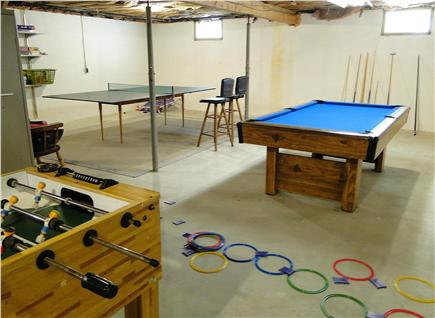 Brewster Cape Cod vacation rental - Rec area - pool table, ping pong, and more!