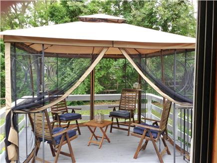 Long Pond, Harwich Cape Cod vacation rental - The large deck is covered with mosquito netting- perfect!