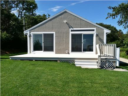 Plymouth MA vacation rental - Large deck and outdoor shower on side