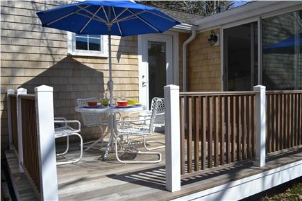 Falmouth Cape Cod vacation rental - Dining on the deck. Sliders lead to dining area