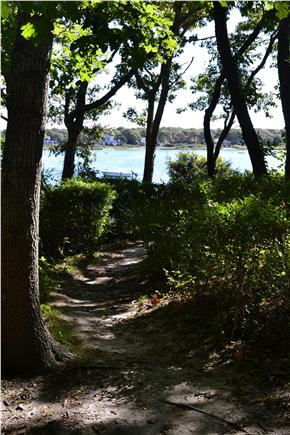 Falmouth Cape Cod vacation rental - Path to Great Pond beach at the end of the street