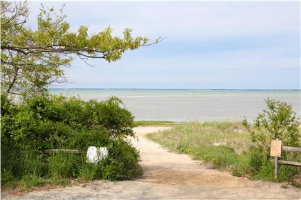Brewster Cape Cod vacation rental - Path to the beach at Point of Rocks