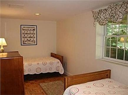 Brewster Cape Cod vacation rental - 3rd downstairs bedroom with twin beds