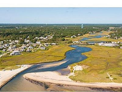 Dennis, 7 Poiticki rd Cape Cod vacation rental - Another view of the River from the beach back to the cottage