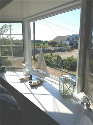 Dennis, 7 Poiticki rd Cape Cod vacation rental - Newly painted living room  with picture window with beach views