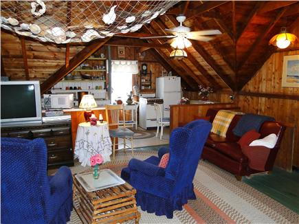 Falmouth  Cape Cod vacation rental - Showing from living area towards kitchen