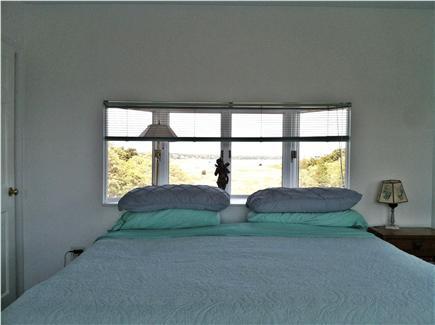 Wellfleet Cape Cod vacation rental - Master bed with bay window