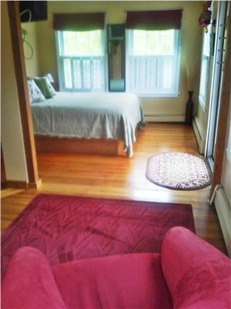 Sandwich Cape Cod vacation rental - Downstairs bedroom queen bed, private shower and deck