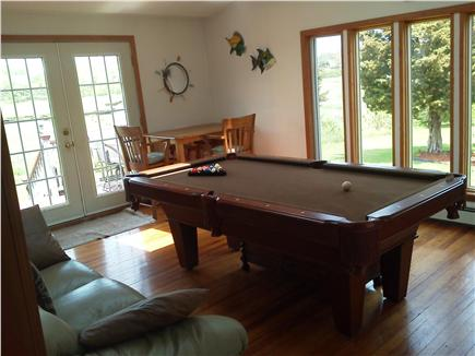 Sandwich Cape Cod vacation rental - Sunroom with water views and pool table