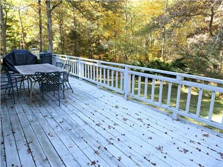 Cotuit Cotuit vacation rental - Deck overlooking private back yard
