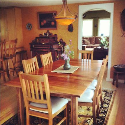 Eastham Cape Cod vacation rental - Sunny dining area - bamboo floors throughout!