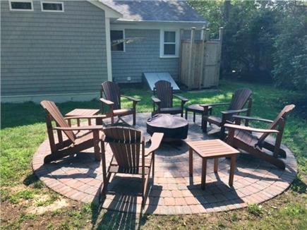 Mashpee Cape Cod vacation rental - Level yard with new cedar outside shower