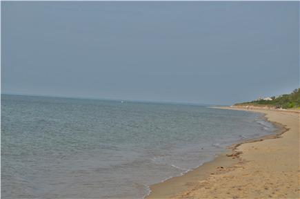 Brewster Cape Cod vacation rental - High tide at Breakwater Beach