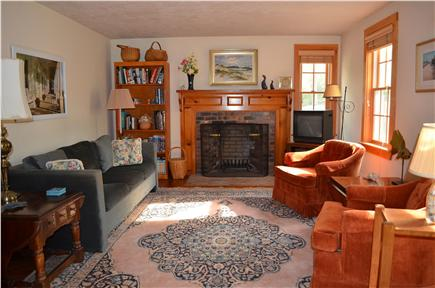 Brewster Cape Cod vacation rental - Front living room with HDTV & BluRay/DVD player