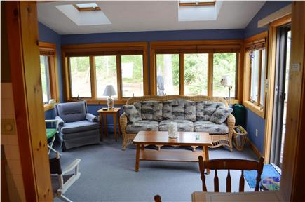 Brewster Cape Cod vacation rental - Bright and airy sunroom - Smart TV, BluRay/DVD & access to deck
