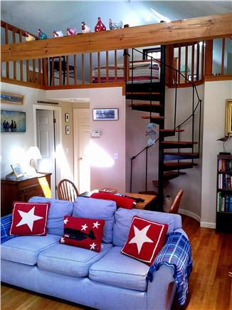 Eastham Cape Cod vacation rental - Spiral staircase to the loft area which has a Queen size bed.
