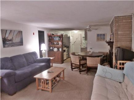 West Dennis Cape Cod vacation rental - Living room and dining area