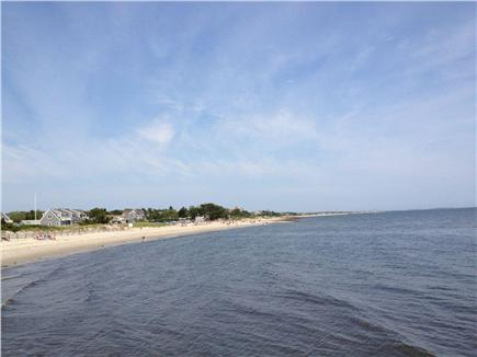 West Harwich Cape Cod vacation rental - View of Pleasant Road Beach from jetty