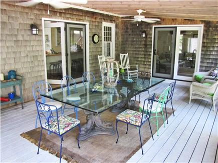 East Sandwich Cape Cod vacation rental - Large screened in porch