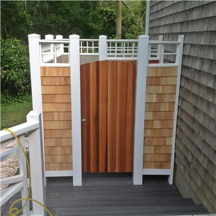 East Sandwich Cape Cod vacation rental - New: Outdoor Shower and changing area
