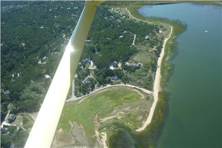 Indian Neck / Wellfleet Cape Cod vacation rental - Aerial View (last house on Old Pier Rd.dead ends at Chipman Cove)