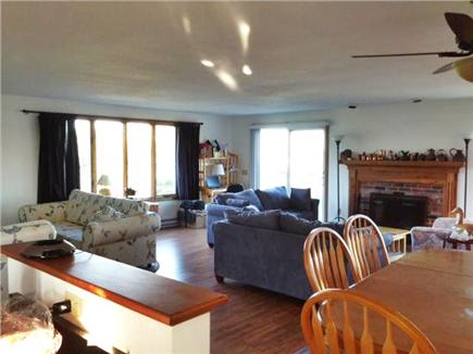 Truro Cape Cod vacation rental - Looking into the living room from the kitchen