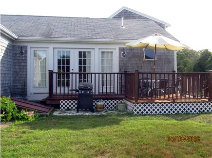 North Falmouth Cape Cod vacation rental - Side Deck