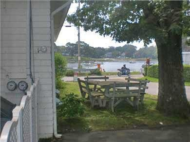 Onset on Water Street Inlet MA vacation rental - Water-View Dining from Porch or Sideyard Garden Picnic Tables