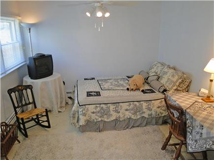Onset on Water Street Inlet MA vacation rental - Northside 1st Floor Bedroom w/ TV & Bath off Family Room & Yard
