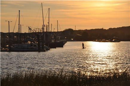 Wellfleet Cape Cod vacation rental - Sunset from private beach