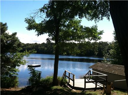 Orleans Cape Cod vacation rental - View of Crystal Lake and condo dock